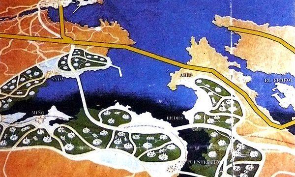 La Ciudad de las Rías concebida en 1968.