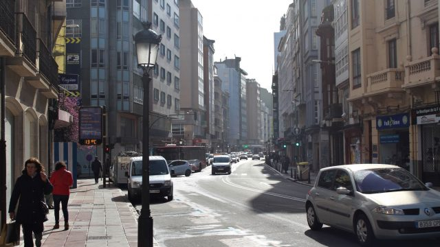 La calle de San Andrés, en A Coruña.