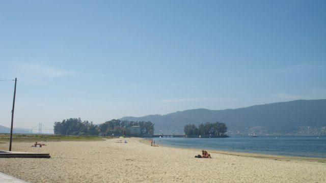 Playa de Cesantes, en Redondela (Pontevedra)