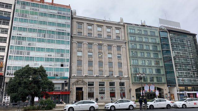 El edificio de Cantón Grande número 4, propiedad de Pontegadea