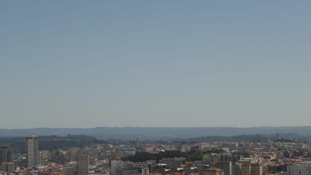 Vistas de A Coruña desde el Monte de San Pedro