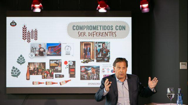 Ignacio Rivera, durante la presentación de los resultados de 2018