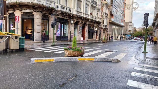 La calle Compostela en A Coruña