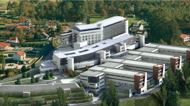 Imagen del proyecto de ampliación del Hospital Montecelo, en Pontevedra.
