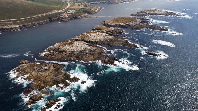 Vista de O Portiño y de las islas de San Pedro