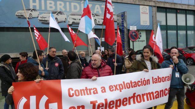 Protestas de los trabajadores de Teleperformance, en una imagen de archivo.