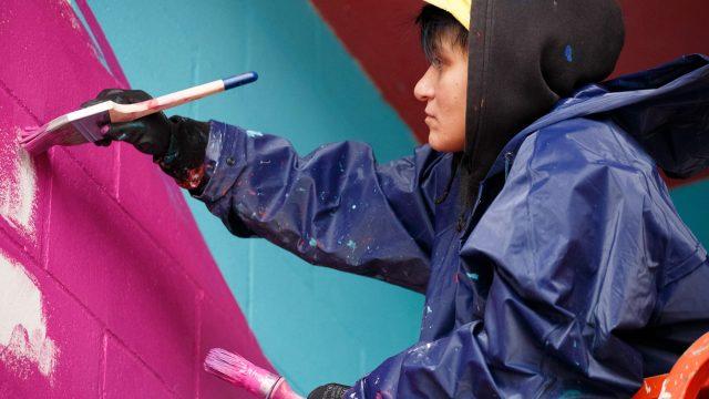 La artista Btoy en la primera edición del festival.