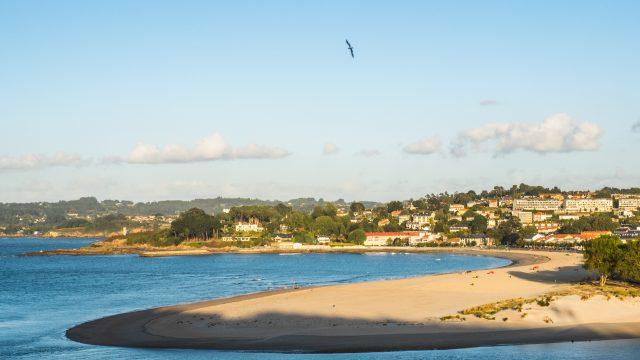 Playa de Santa Cristina, en Oleiros