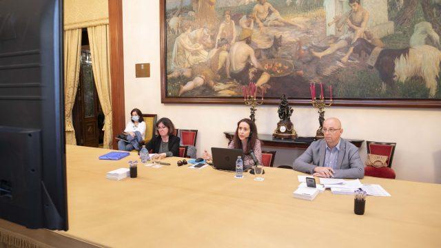 Yoya Neira durante una rueda de prensa.
