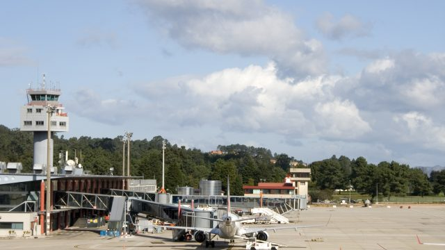Aeropuerto de Peinador, en Vigo.