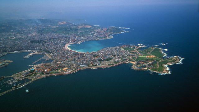 Foto aérea de la ciudad de A Coruña