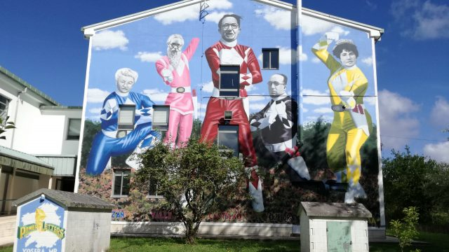 Mural de los Power Letters hecho por Joseba MP.