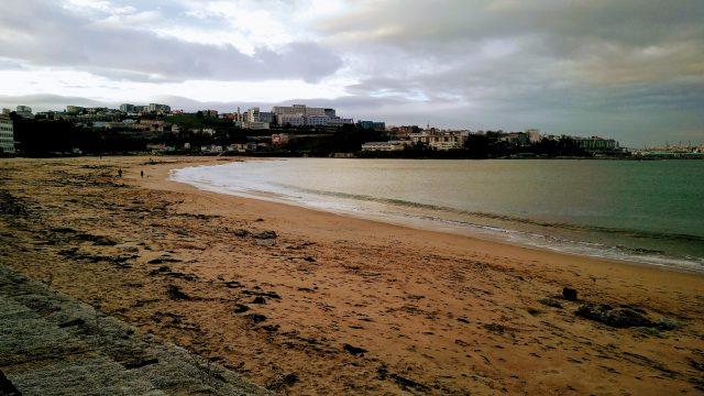 Playa de Santa Cristina en Oleiros (A Coruña).