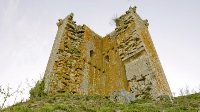 Castillo de Sandiás, en Xinzo de Limia (Ourense)
