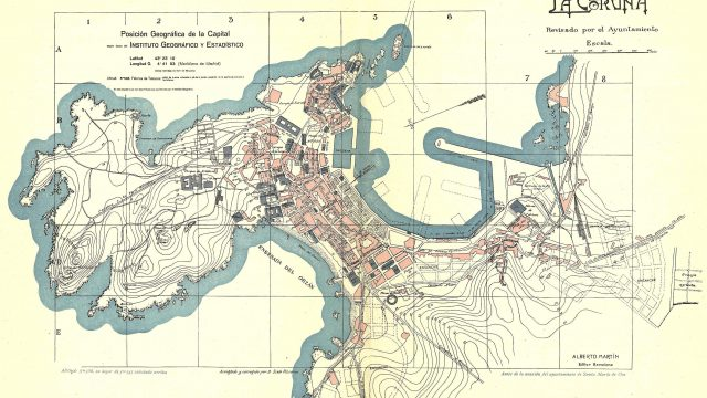 Plano de A Coruña en 1920