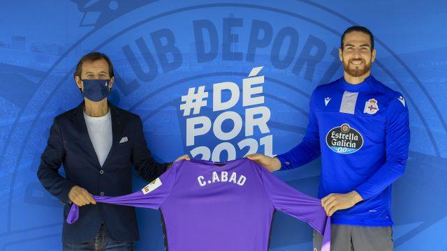 El jugador Carlos Abad.