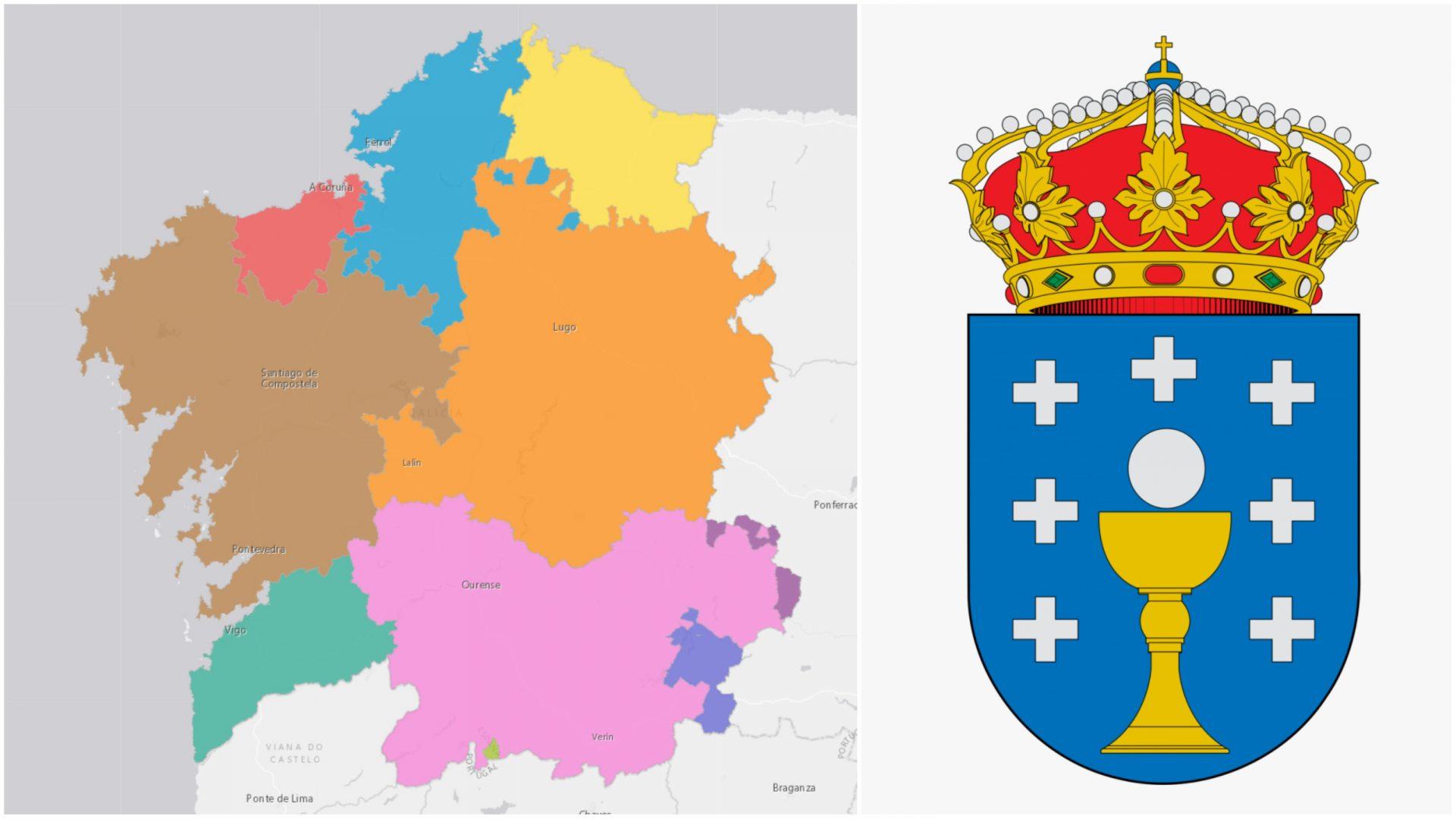 Así era la antigua Galicia de las cinco y siete provincias