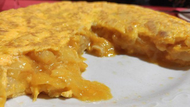 Tortilla de Casa Miranda, en Betanzos.