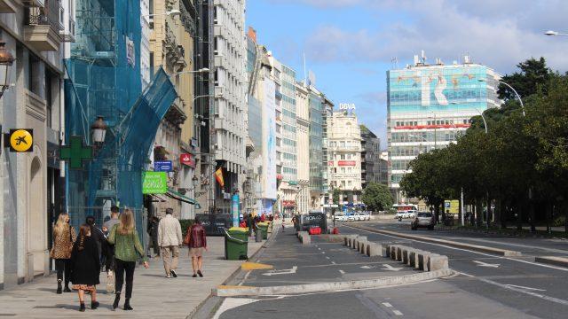 Los Cantones, en A Coruña.