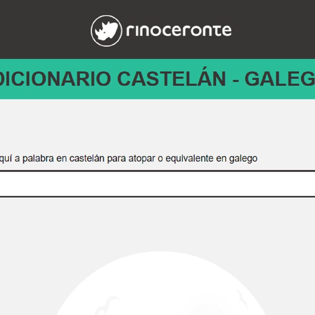 La Firma Rinoceronte Editora Hace Público Un Diccionario Online Castellano Gallego
