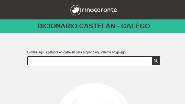 La página web del diccionario castellano-gallego.