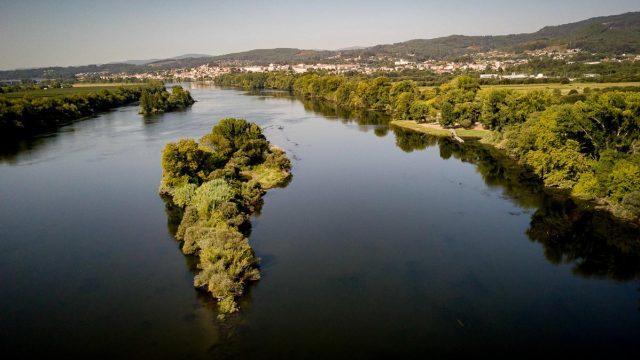 Río Miño a su paso por Tui.