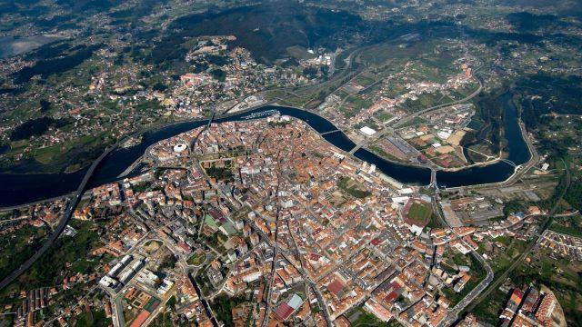 La ciudad de Pontevedra desde el aire