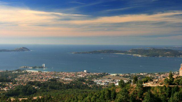 Vista panorámica de Vigo y su ría.
