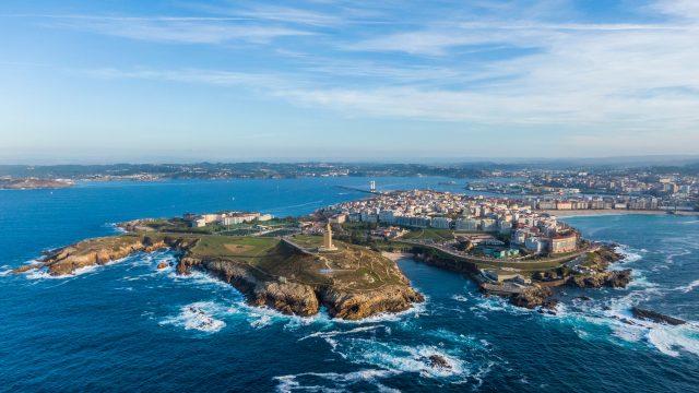 A Coruña desde el aire.