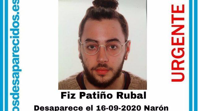 Fiz Patiño Rubal, desaparecido desde mediados de septiembre.