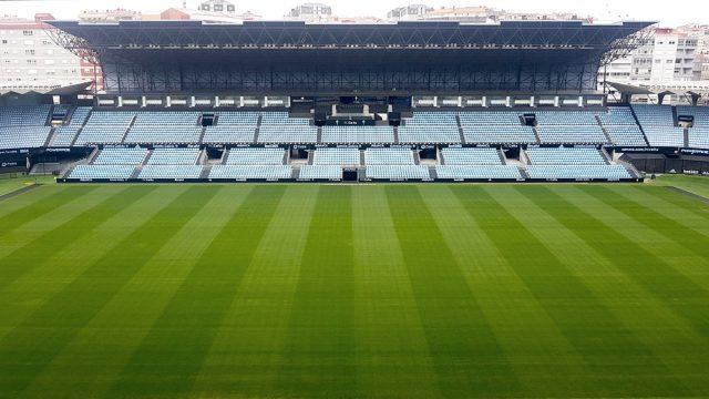 El estadio de Balaídos durante el mes de abril de 2020.