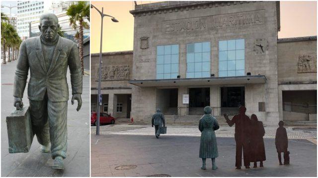 Estatua de Homenaje a la emigración en Vigo