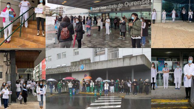Concentraciones esta mañana en hospitales gallegos