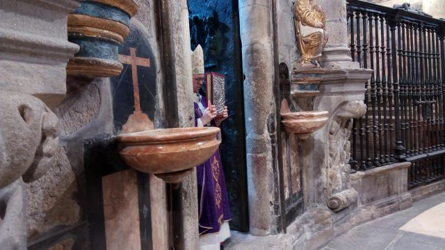 Imagen de archivo sobre la apertura de la Puerta Santa.