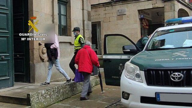 El detenido por vender droga en Noia (A Coruña).