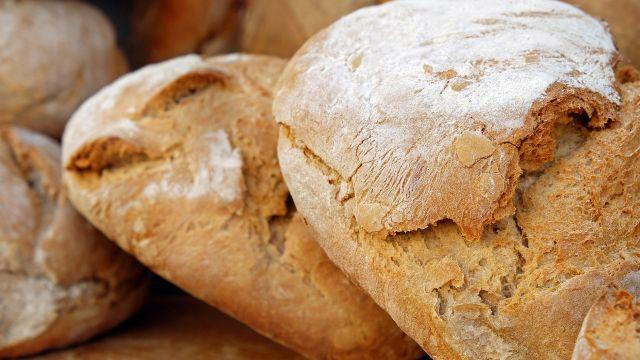 Pan en una foto de archivo.