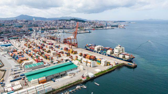 Vista aérea del Puerto de Vigo.