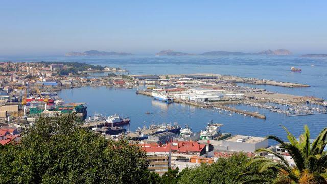 Vista aérea el Puerto e Vigo.