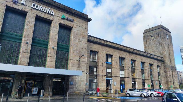 La estación de tren de A Coruña.