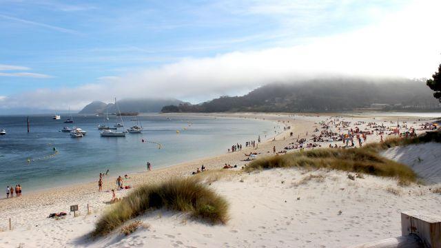 Playa de Rodas en las Islas Cíes.