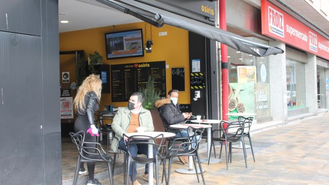 Un local de hostelería de Pontevedra en una foto de archivo.