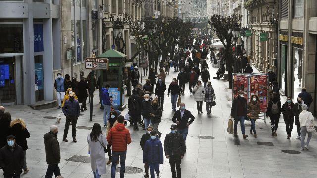 Calle del Paseo, en Ourense.