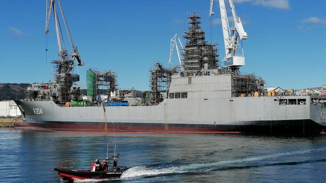 El buque logístico que Navantia Ferrol construyó para la Armada de Australia en una foto de archivo.