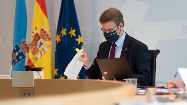 Feijóo en el Consello de la Xunta.