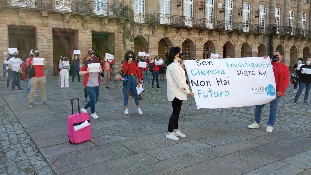 Concentración en Santiago contra la reforma de la Ley de Ciencia