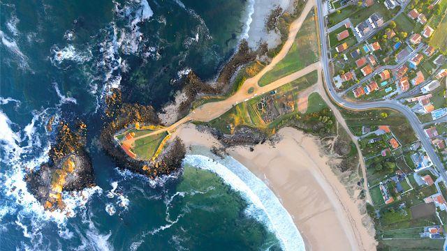Vista aérea yacimiento de A Lanzada. Turismo Rías Baixas