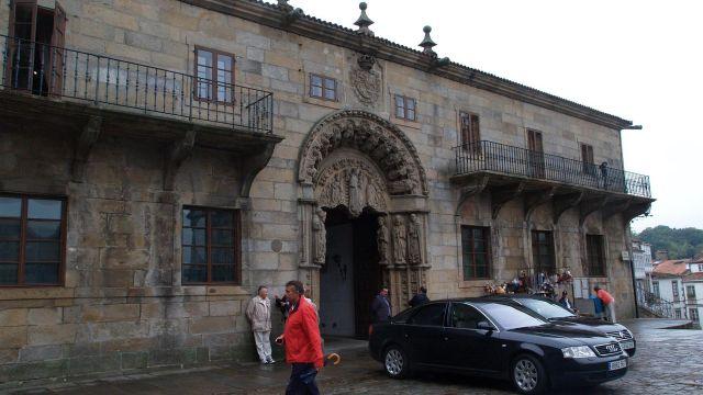 Fachada del Rectorado de Santiago de Compostela (A Coruña).