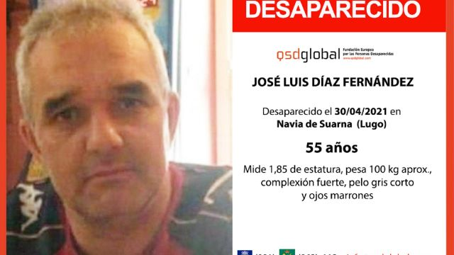José Luis Díaz, desaparecido en Navia de Suarna (Lugo).