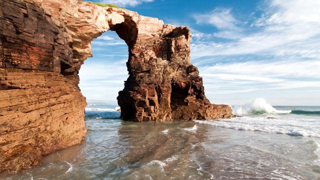 La playa de As Catedrais, en Ribadeo (Lugo).