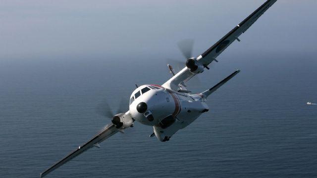 El avión 'Sasemar 101' participó en las labores de búsqueda.